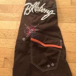 Billabong Swim - Billabong Men's Board Shorts Skull Brown